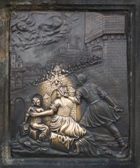 聖ヤン・ネポムツキー像の台座右側レリーフ