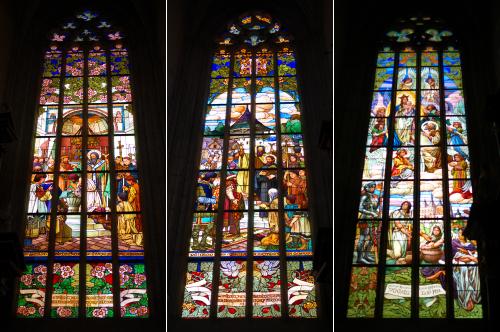 聖バルボラ教会のステンドグラス