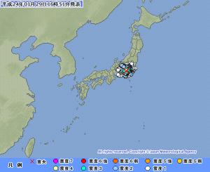 気象庁の地震情報