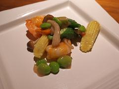 海老と季節野菜の炒め-豆腐餻味
