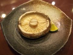 生椎茸の炙り焼き
