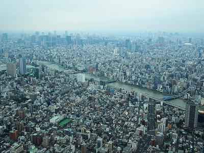 東京スカイツリーの天望デッキからの眺め