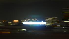 新幹線車内から撮った夜景