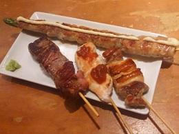鉄板串料理