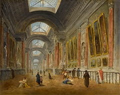 ルーブル宮グランド・ギャラリーの改修計画、1798年頃