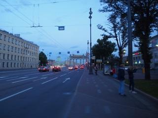 サンクトペテルブルクの日没頃