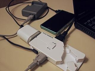 PC、スマホ、USB充電器、AC電源
