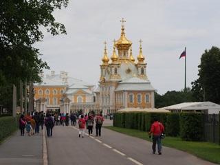 ペテルゴフの夏の宮殿の宮殿教会