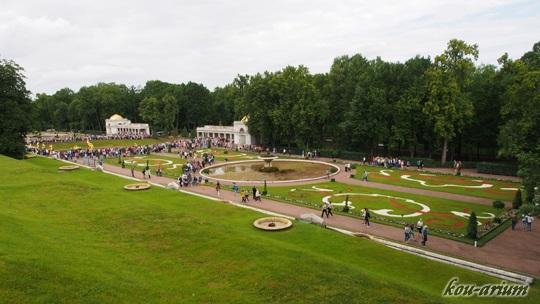 ペテルゴフの夏の宮殿の庭園