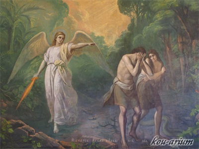 セルギエフ教会内の宗教画