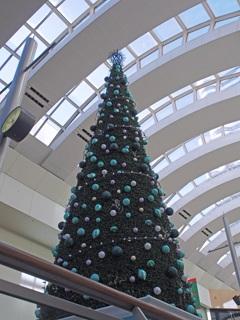 2015年クイーンズタワーのクリスマスツリー