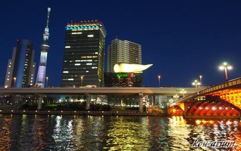 東京スカイツリー 咲バージョンライトアップ