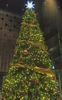 東京日本橋タワーのクリスマスツリー2016