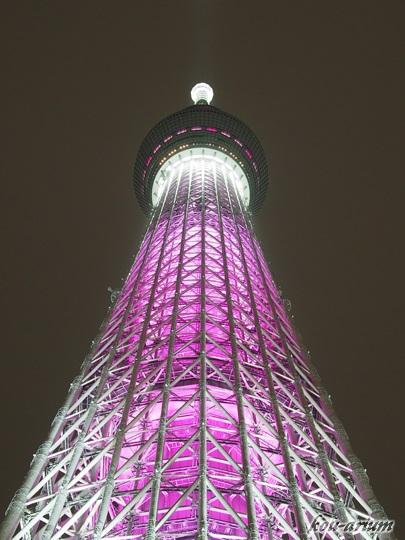 東京スカイツリー 桜ライティング