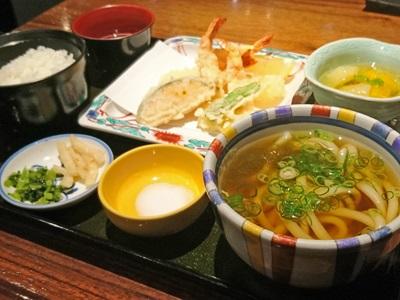美々卯の天ぷら膳