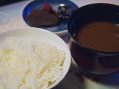 御飯 しじみ味噌汁 香物