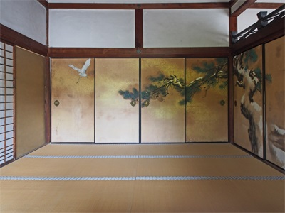 仁和寺の御殿の中