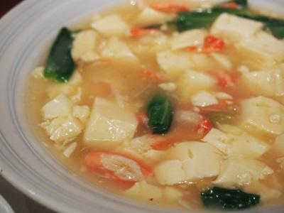 蟹肉と豆腐の煮込み