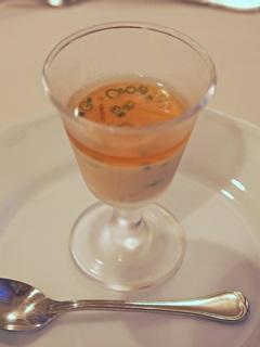 冷たい小海老と枝豆のフラン