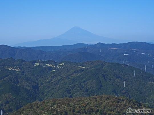 大室山から眺めた富士山
