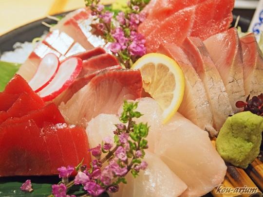 近大マグロと選抜鮮魚のお造り盛り