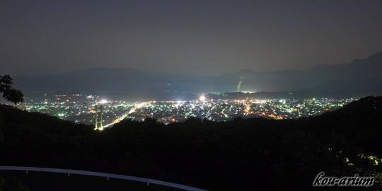 秩父ミューズパーク 旅立ちの丘からの夜景
