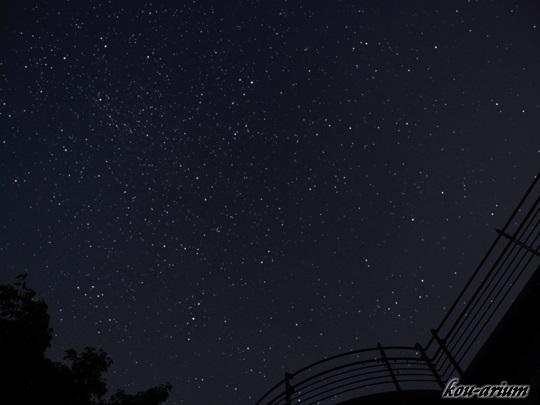 秩父ミューズパーク 旅立ちの丘で見た星