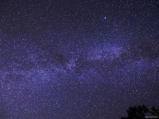 チミケップ湖で見た星空