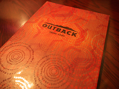 OUTBACK STEAKHOUSEのメニュー