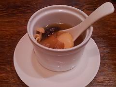 希少銀鮫ヒレと鮑入り蒸しスープ