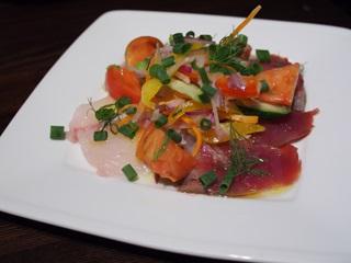 鮮魚のカルパッチョ(カサゴとカツオ)