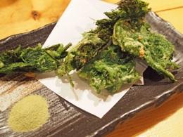 四万十川の青海苔の天ぷら