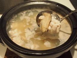 白子とカキの鍋