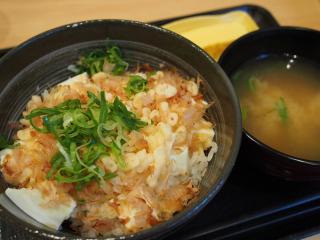 豆腐ぶっかけ飯 ~鯛だし味~