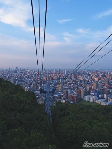 札幌もいわ山ロープウェイからの眺め