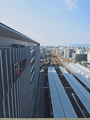 JR博多シティ屋上展望テラスの列車展望スペース