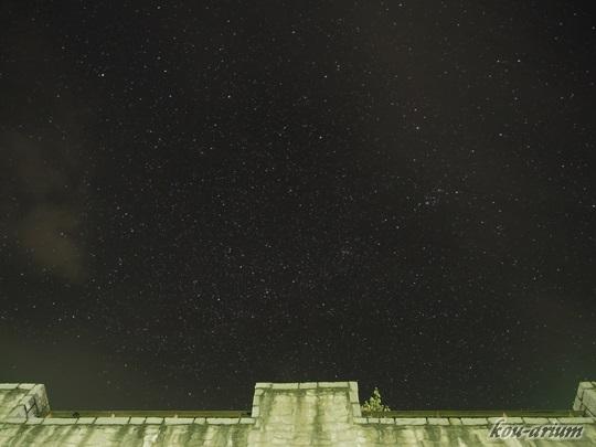 笛吹川フルーツ公園で撮った星空