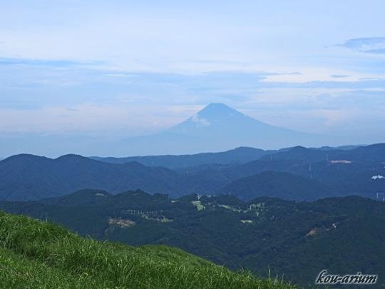 大室山からの富士山の眺め