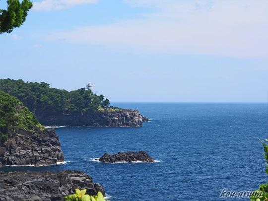 伊豆四季の花公園のつなきり岬からの眺め