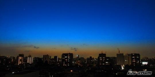 日没後の空