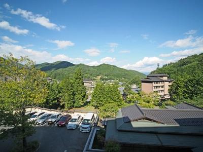 昼神温泉郷ホテルはなやの部屋からの眺め