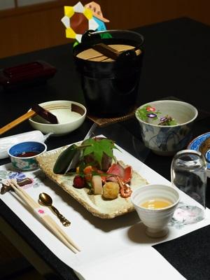 昼神温泉郷ホテルはなやの夕食
