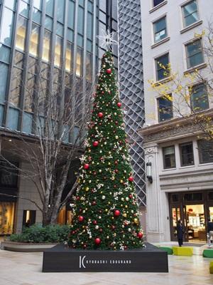 京橋エドグランのクリスマスツリー